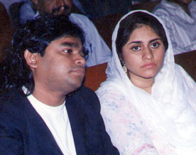 Arr with his wife